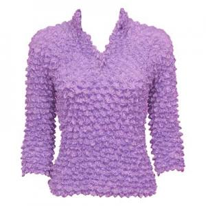 Wholesale Gourmet Popcorn - Three Button 3/4 Sleeve Lilac - One Size (S-XL)