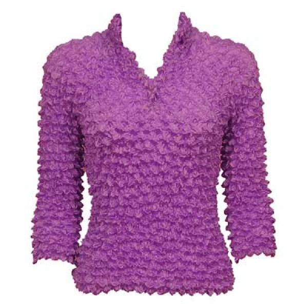 wholesale Gourmet Popcorn - Three Button 3/4 Sleeve Orchid  - One Size (S-XL)