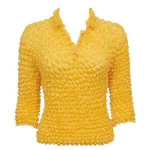 Wholesale Gourmet Popcorn - Three Button 3/4 Sleeve Sun Gold - One Size (S-XL)