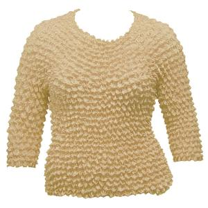 Wholesale  Beige Silky Touch Popcorn - Queen Three Quarter Sleeve - Queen Size Fits (XL-3X)