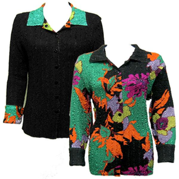 Wholesale Magic Crush - Reversible Jackets Cukoo Green reverses to Solid Black MB - XL-1X