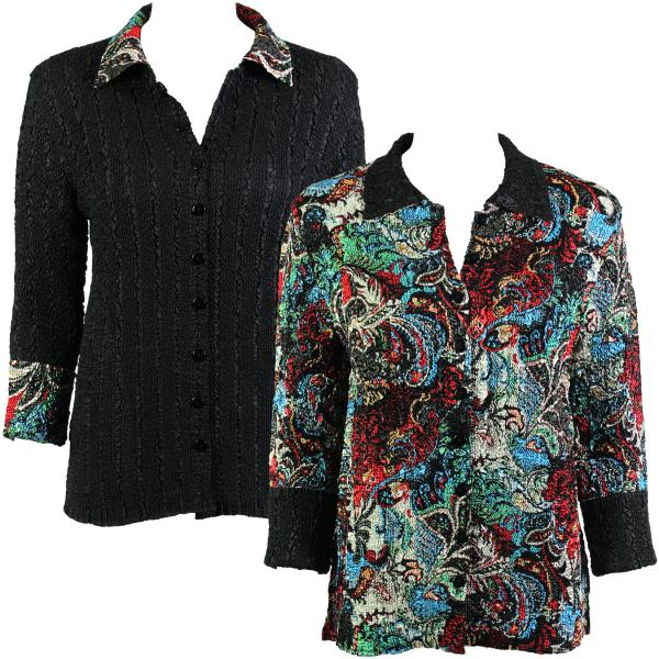 Wholesale Magic Crush - Reversible Jackets #3002 Multi Colored Paisley - 1X-2X