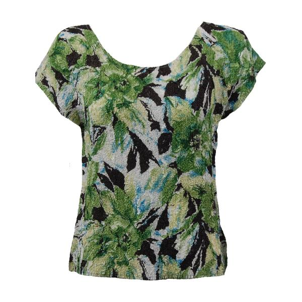 wholesale Ultra Light Crush Silky Touch - Cap Sleeve* Tropical Green - Plus Size Fits (XL-2X)