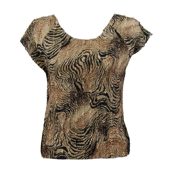 wholesale Ultra Light Crush Silky Touch - Cap Sleeve* Swirl Animal - Plus Size Fits (XL-2X)