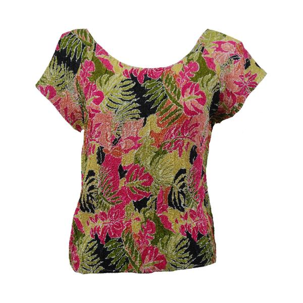 wholesale Ultra Light Crush Silky Touch - Cap Sleeve* Tropical Heat - Plus Size Fits (XL-2X)