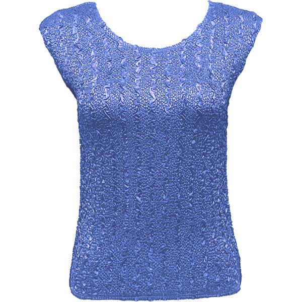 wholesale Ultra Light Crush Silky Touch - Cap Sleeve* Solid Azure Blue - Plus Size Fits (XL-2X)