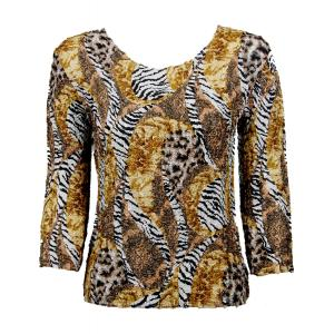 wholesale Ultra Light Crush Silky Touch - 3/4 Sleeve* Safari Gold - One Size (S-L)