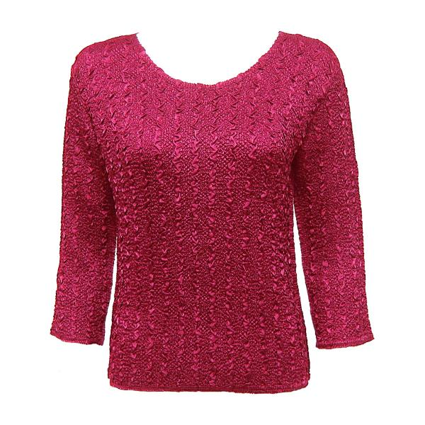 wholesale Ultra Light Crush Silky Touch - 3/4 Sleeve* Solid Pink - One Size (S-L)