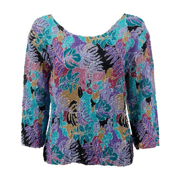 wholesale Ultra Light Crush Silky Touch - 3/4 Sleeve* Tropical Breeze - Plus Size Fits (XL-2X)