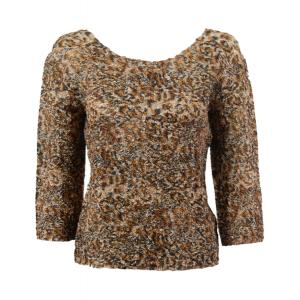 wholesale Ultra Light Crush Silky Touch - 3/4 Sleeve* Leopard - Plus Size Fits (XL-2X)