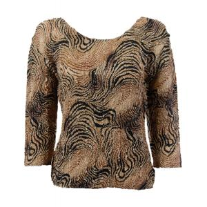 wholesale Ultra Light Crush Silky Touch - 3/4 Sleeve* Swirl Animal - One Size (S-L)