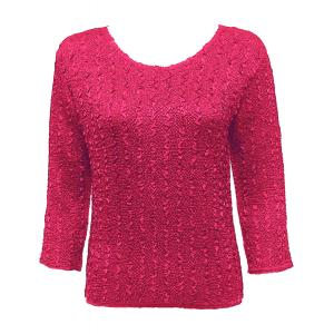 wholesale Ultra Light Crush Silky Touch - 3/4 Sleeve* Solid Hot Pink - One Size (S-L)