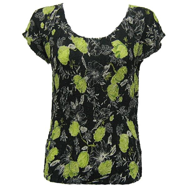 Magic Crush Georgette - Cap Sleeve* Black-Kiwi Floral - One Size (S-L)