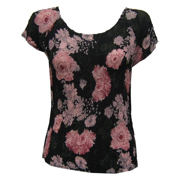Magic Crush Georgette - Cap Sleeve* Floral Stencil Pink - One Size (S-L)