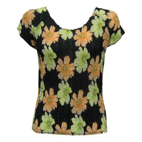 Wholesale Magic Crush Georgette - Cap Sleeve* Hibiscus Peach-Green - One Size  Fits (S-M)