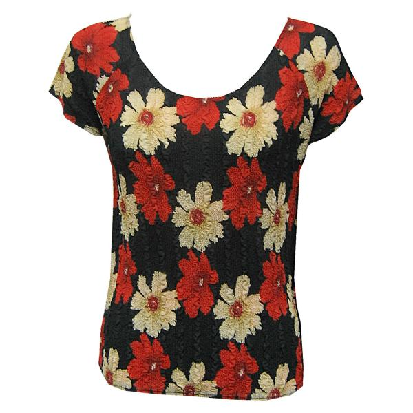 Magic Crush Georgette - Cap Sleeve* Hibiscus Red-Tan - One Size (S-L)