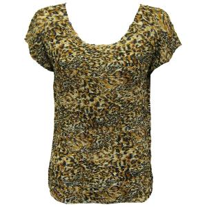 Magic Crush Georgette - Cap Sleeve* Leopard Print - One Size (S-L)