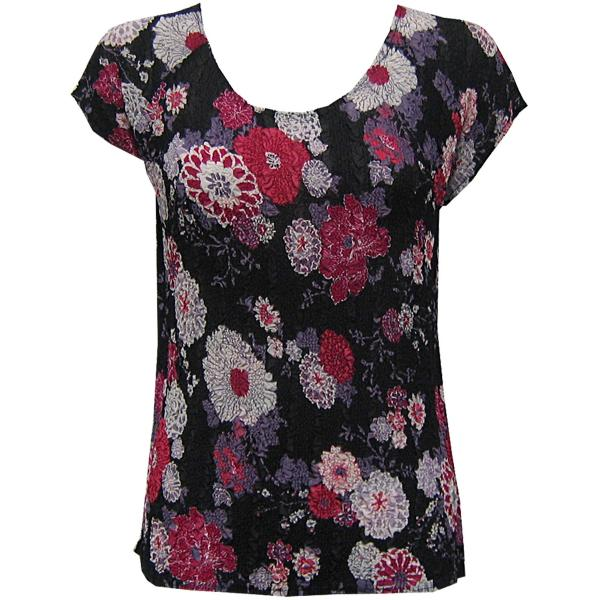 Magic Crush Georgette - Cap Sleeve* Mums Pink-Black - One Size (S-L)