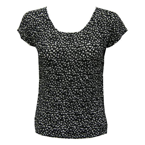 Magic Crush Georgette - Cap Sleeve* Polka Dot Black-White - One Size (S-L)