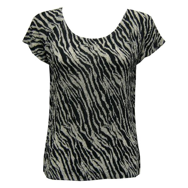 Magic Crush Georgette - Cap Sleeve* Zebra Stripe - One Size (S-L)