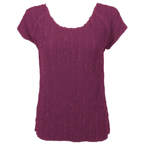Magic Crush Georgette - Cap Sleeve* Solid Raspberry - One Size (S-L)