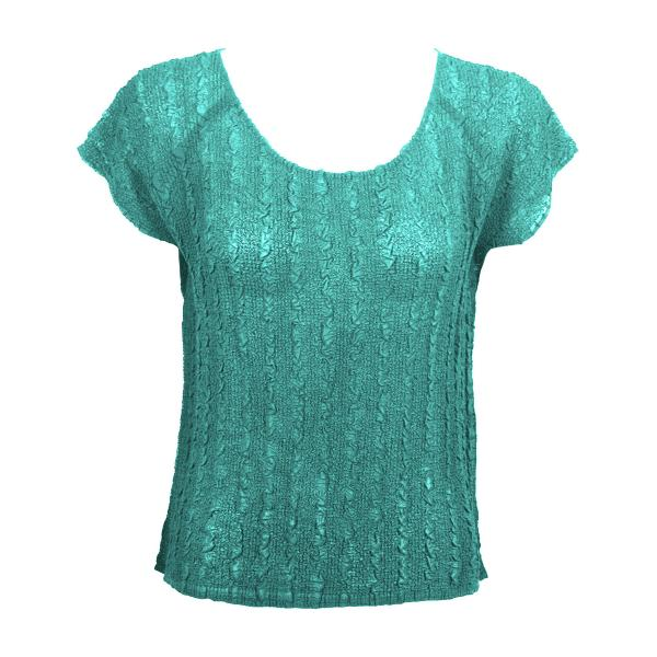 Magic Crush Georgette - Cap Sleeve* Solid Seafoam - One Size (S-L)