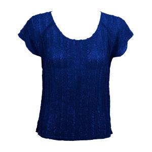 Magic Crush Georgette - Cap Sleeve* Solid Royal  - One Size (S-L)
