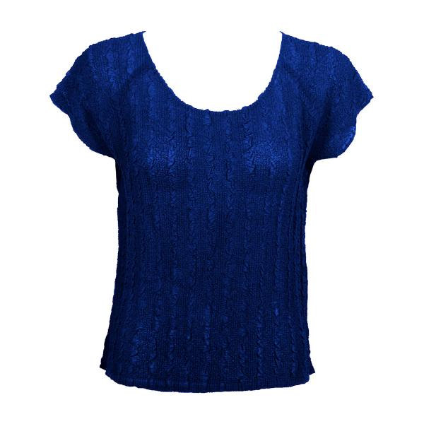 Wholesale Magic Crush Georgette - Cap Sleeve* Solid Royal  - One Size  Fits (S-M)