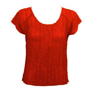 Magic Crush Georgette - Cap Sleeve* Solid Red  - One Size (S-L)