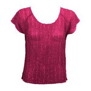 Magic Crush Georgette - Cap Sleeve* Solid Magenta  - One Size (S-L)