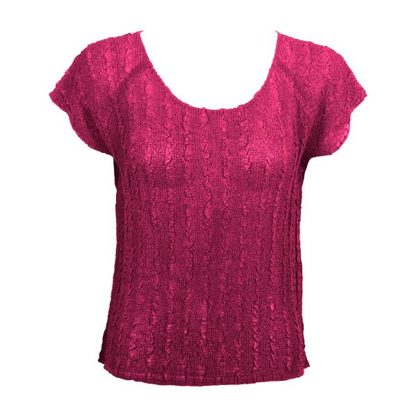 Wholesale Magic Crush Georgette - Cap Sleeve* Solid Magenta  - One Size  Fits (S-M)