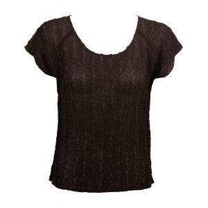 Magic Crush Georgette - Cap Sleeve* Solid Dark Brown - One Size (S-L)