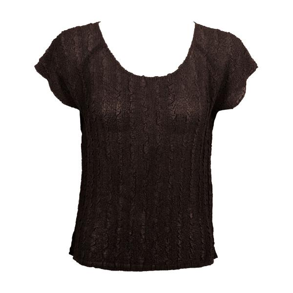 Wholesale Magic Crush Georgette - Cap Sleeve* Solid Dark Brown - One Size  Fits (S-M)