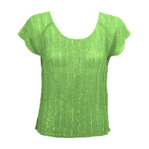 Magic Crush Georgette - Cap Sleeve* Solid Lime - One Size (S-L)