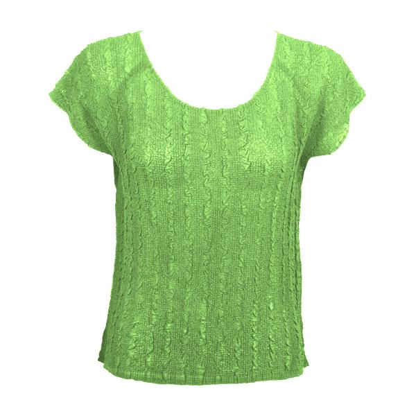 Wholesale Magic Crush Georgette - Cap Sleeve* Solid Lime - One Size  Fits (S-M)