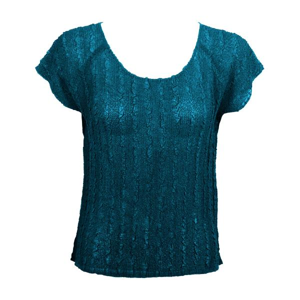 Wholesale Magic Crush Georgette - Cap Sleeve* Solid Teal - One Size  Fits (S-M)