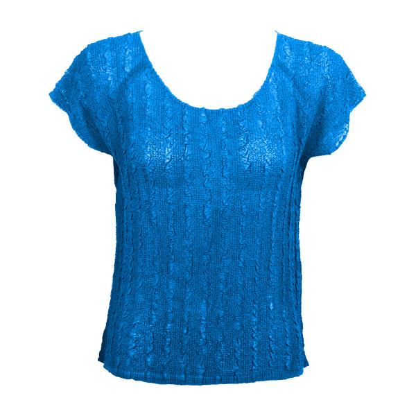 Wholesale Magic Crush Georgette - Cap Sleeve* Solid Cornflower Blue - One Size  Fits (S-M)
