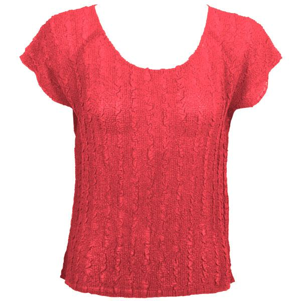 Magic Crush Georgette - Cap Sleeve* Solid Coral  - One Size (S-L)