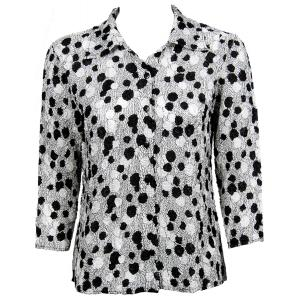 Wholesale Ultra Light Crush Silky Touch - Blouse*  Bubbles Black-White - One Size (S-L)
