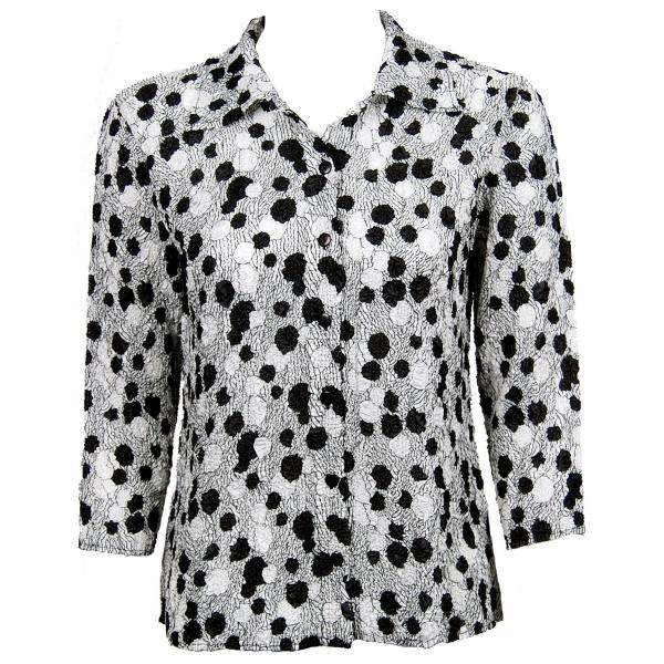 Wholesale Ultra Light Crush Silky Touch - Blouse*  Bubbles Black-White - One Size Fits (S-L)