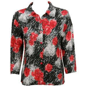 Wholesale Ultra Light Crush Silky Touch - Blouse*  Spray of Roses - One Size (S-L)