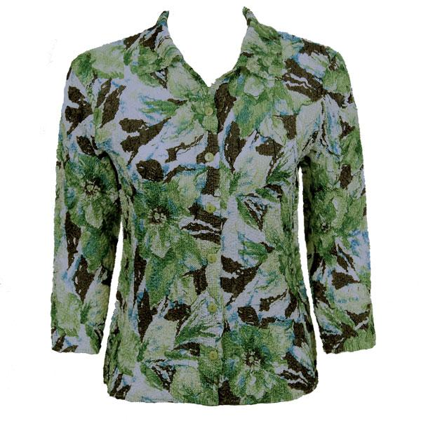 Wholesale Ultra Light Crush Silky Touch - Blouse*  Tropical Green - One Size Fits (S-L)