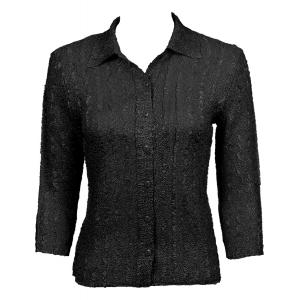 Wholesale Ultra Light Crush Silky Touch - Blouse* Solid Black - One Size (S-L)