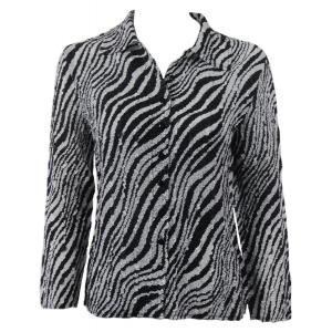 Wholesale Ultra Light Crush Silky Touch - Blouse*  Zebra - One Size (S-L)