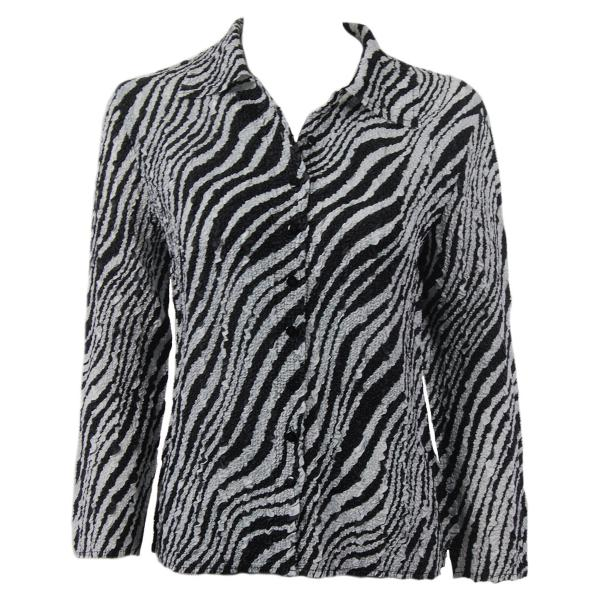 Wholesale Ultra Light Crush Silky Touch - Blouse*  Zebra - One Size Fits (S-L)