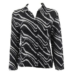 Wholesale Ultra Light Crush Silky Touch - Blouse*  Ribbon Black-White - One Size (S-L)