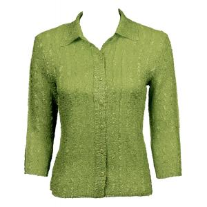 Wholesale Ultra Light Crush Silky Touch - Blouse* Solid Leaf - One Size (S-L)