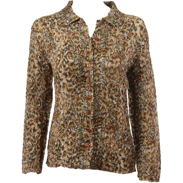 Wholesale Ultra Light Crush Silky Touch - Blouse*  Leopard - Plus Size Fits (XL-2X)