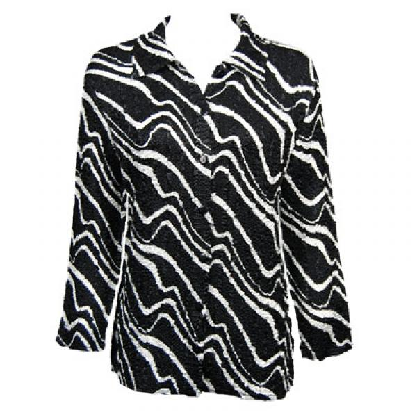 Wholesale Magic Crush Satin - Blouse*  Ribbon Black-White - One Size (S-L)