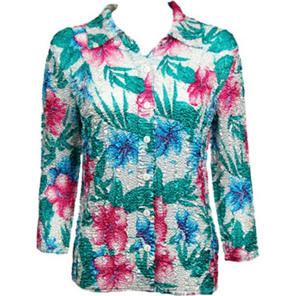 Wholesale Magic Crush Satin - Blouse* Bright Bouquet Magic Crush Satin - Blouse* - Plus Size Fits (M-1X)